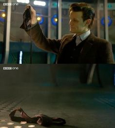 "The bow tie went. | The Internet Has A Lot Of Emotions About Matt Smith's Final ""Doctor Who"" Episode"