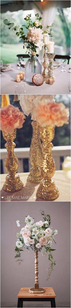 vintage wedding centerpieces with candlesticks