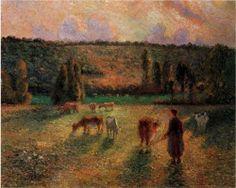 Cowherd at Eragny - Camille Pissarro