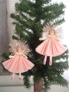 Petite Victorian Angels Spun Cotton