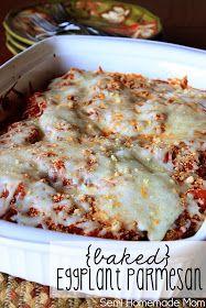 Mostly Homemade Mom: Baked Eggplant Parmesan