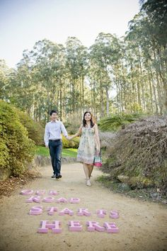 Our road starts here - Dandenongs Pre-wedding photo session from Erin King Photographer
