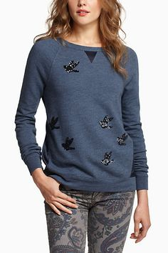 Sequined Migration Pullover #anthropologie