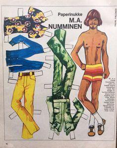 Paper doll M.A.Numminen 1972