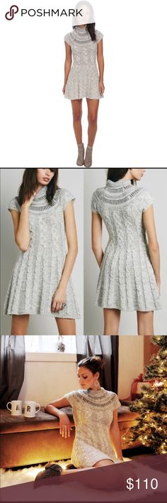 NWT Free people gray sweater dress Size small! NWT! So cute perfect for holiday's with tights or leggings and a pair of angle boots!! Make an offer I might just accept! Free People Dresses Mini