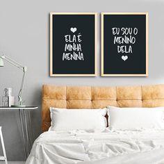Kit de Quadros Ela é minha menina, eu sou o menino dela. Encontre a arte perfeita para sua decoração na Encadreé Posters.  Palavras-chave: parede decorada, parede de quadros, posters, quadros, decor, decoração, presentes criativos, arte, ilustração, decoração de interiores, decoração criativa, quadros decorativos, posters com moldura, quadros modernos, decoração moderna, quadros tumblr, conjunto de quadros, decoração quarto casal, namorados, dia dos namorados, duo de quadros decorativos Modern Wall Decor, Metal Wall Decor, Bathroom Wall Decor, Room Decor, Wall Decor Amazon, Unique Home Accessories, Decorative Accessories, Mid Century Coffee Table, Mid Century Living Room