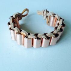 #diy #copper #beads #weaving #bracelet  #makesome365
