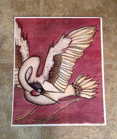 Crane PRINT by Jill Petersen on Etsy