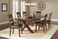 Park Avenue Trestle Table Set by Hillsdale