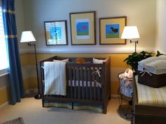 yellow striped nursery ideas