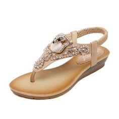 e0b05e49b41 Zapatos Sandalias Solo correa Tipo de tacón Cuero Comprar Zapatos