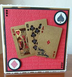 21st card for my grandson. Used Tonic Bowscale dies for card base and Tattered Lace embossing folder.