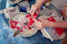 Painting workshop Ilona Herc.  Fot. Elżbieta Oracz