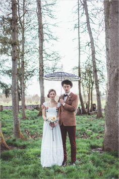 Rainy wedding inspiration photography. Captured By: Hazelwood Photo #weddingchicks http://www.weddingchicks.com/2014/06/18/give-the-groom-a-real-cake/
