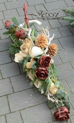 Grave Flowers, Cemetery Flowers, Funeral Flowers, Dried Flower Arrangements, Dried Flowers, Blossoms Florist, Cemetery Decorations, Garden Workshops, Sympathy Flowers