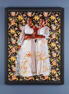 "Kehinde Wiley Paintings | Sisters."" Painting by Kehinde Wiley, oil on linen. © Kehinde Wiley ..."