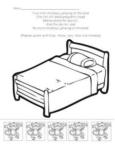 big bed pics coloring pages - photo#5