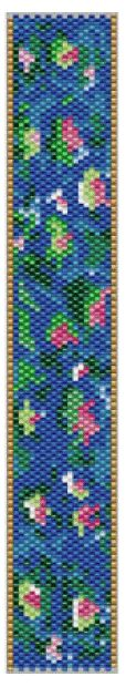 Monet's Bracelet Pattern at Sova-Enterprises.com. Lots of free beading patterns and tutorials on this site!