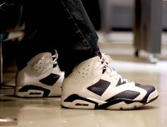 57bf1f832aec Genuine Youth Big Boys Air Jordan VI Olympic New On Foot Images White  Midnight Navy Varsity Red 384664 130