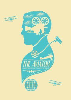 The Aviator (2004) - Minimal Movie Poster by Matt Needle ~ #mattneedle #minimalmovieposters #alternativemovieposters