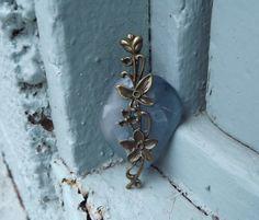 Flower Pendant Repurposed Bottle Glass Pendant by FancyThatFusion, $18.00