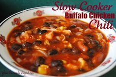 girls and their meals: Slow Cooker Buffalo Chicken Chili