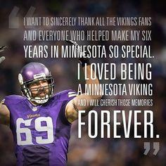 "7b402c8e8ea54f Minnesota Vikings on Instagram: ""Great memories provided by Jared Allen.  #SKOL"""