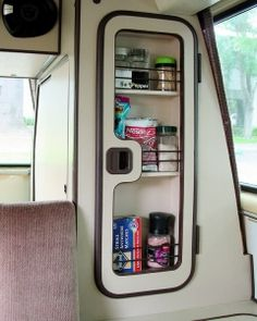 Vanagon Spice Rack (will need your door to retrofit) Rhino Design can retrofit your Westy wardrobe door with a handy, spice rack. To ensure that the hinges will fit, you will need to ship your door to us* and we will modify it (using standard gray Vw T3 Camper, Kombi Motorhome, Camper Van, Pickup Camper, Vw T3 Westfalia, Vw T1, Volkswagen Bus, Bus Interior, Campervan Interior