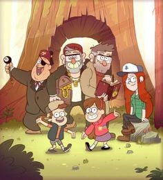 Gravity Falls- Stan & Wendy & Soos & Dipper & Mabel & Ford
