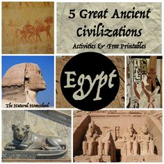 5 Great Ancient Civilizations: Art & Architecture (Activities & Free Printables)
