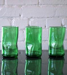 Green Upcup Recycled Glass Tumblers – Set of 3   Home Dining & Tableware   studio MANUFACT   Scoutmob Shoppe   Product Detail