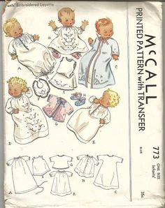 1940s Infants' Layette Embroidered Nightgown Booties