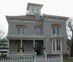 The 1869 Italianate house of Thomas P. Kennard is now the Nebraska Statehood Memorial. It is the oldest house in Lincoln's original plat still standing.