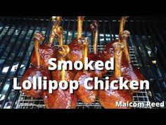 Smoked Chicken Lollipops - chicken drumsticks turned into lollipops and smoked and glazed with bbq sauce. Chicken Legs, Bbq Chicken, Chicken Recipes, Bbq Equipment, Lollipop Recipe, Chicken Lollipops, Smoking Recipes, Smoked Chicken, Chicken Drumsticks