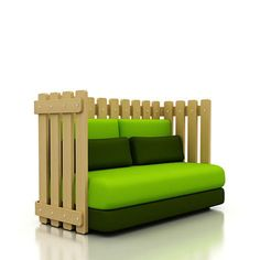 The Grass is Always Greener on The Other Side of the Fence is not only a popular axiom but it's also the name of this sofa by Christian Vivano. Mix up the cushions for varied configurations, including a daybed arrangement. So, whadaya think, is it diyable?  Via Dezeen.