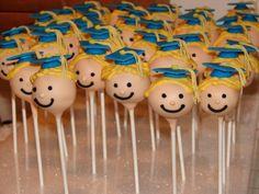 Graduation Cake Pops - different style cartoony