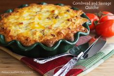 Melissa's Southern Style Kitchen: Cornbread and Sausage Quiche