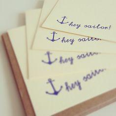 Hey Sailor notecards