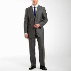 JF J. Ferrar® Gray Sharkskin Suit Separates @JCPenney