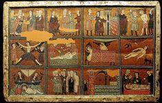 El Frontal de Liesa (S. XIII): Es una pintura medieval, realizada por un autor anónimo sobre un pergamino y encolada en una tabla.