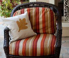 Imparting Grace: Autumn leaf pillow tutorial