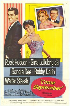 CAST: Rock Hudson, Gina Lollobrigida, Sandra Dee, Bobby Darin, Walter Slezak, Joel Grey, Brenda de Banzie; DIRECTED BY: Robert Mulligan; WRITTEN BY: Stanley Shapiro, Maurice Richlin; CINEMATOGRAPHY BY