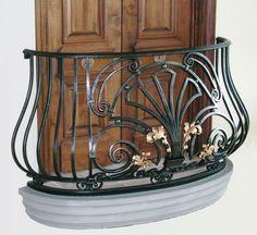 Custom Made Louis XIV Balcony Railings. Love this railing for Gloria's front balcony.