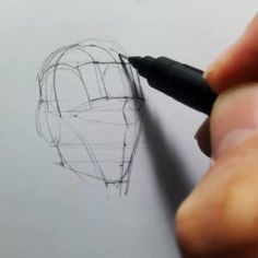 Drawing Tips Videos Body - Drawing Drawing Heads, Body Drawing, Drawing Tips, Drawing Faces, Drawing The Human Head, Basic Drawing, Drawing Techniques, Drawing Art, Anatomy Sketches