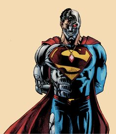 Cyborg Superman by Jack Herbert and José Luís Injustice 2 Characters, Comic Book Characters, Comic Book Heroes, First Superhero, Superman Artwork, Action Comics 1, All Superheroes, Comic Villains, Superman Family