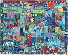 Darling Alphabet Panel from Hoffman Fabrics!
