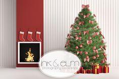 "Photography Backdrop  ""Merry Little Christmas"""