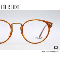 Matsuda 2805, Vintage mens round eyeglasses, 90s mens & women optical frame, rare and unique / NOS
