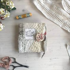 It has been a long time since I posted anything, times has flown by! I hope this post finds everyone well and happy! Needle Book, Needle And Thread, Fabric Paper, Fabric Crafts, Invisible Stitch, Fabric Journals, Sewing Stitches, Linens And Lace, Handmade Journals
