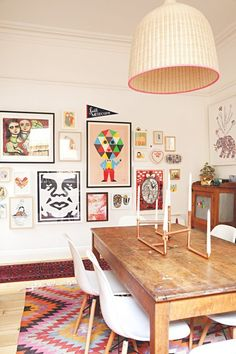 Casinha colorida: Na casa de artista